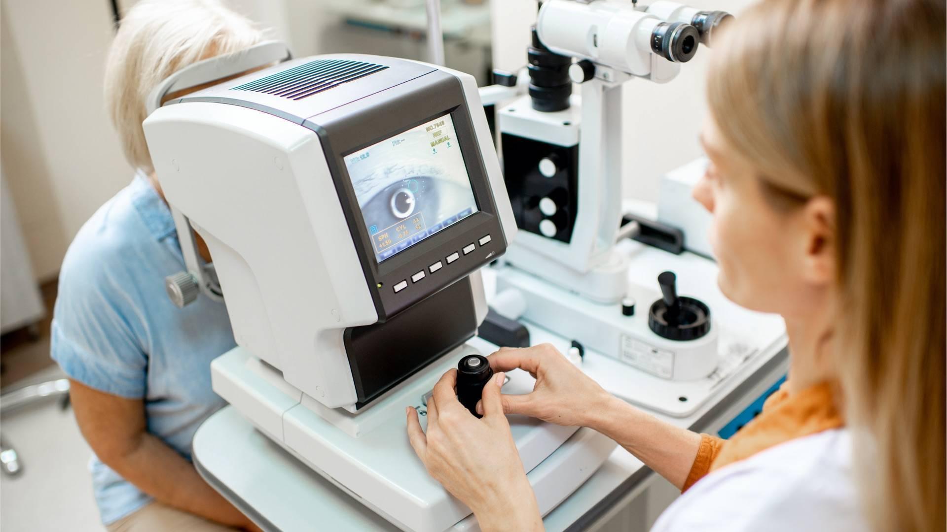 Untersuchung der Augen